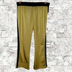 Nike Women's Yellow/Black Pants. Large.